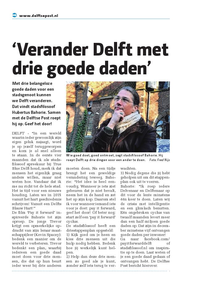 Verander Delft met drie goede daden